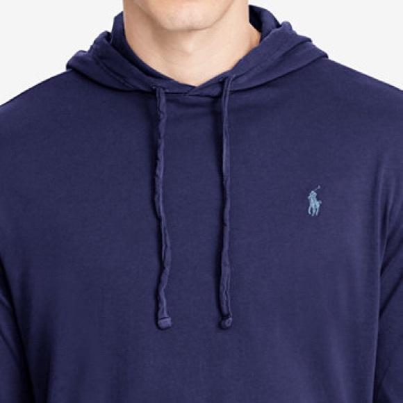 Shirt Ralph Men's Hooded Jersey T Cotton Lauren UpVSqMz
